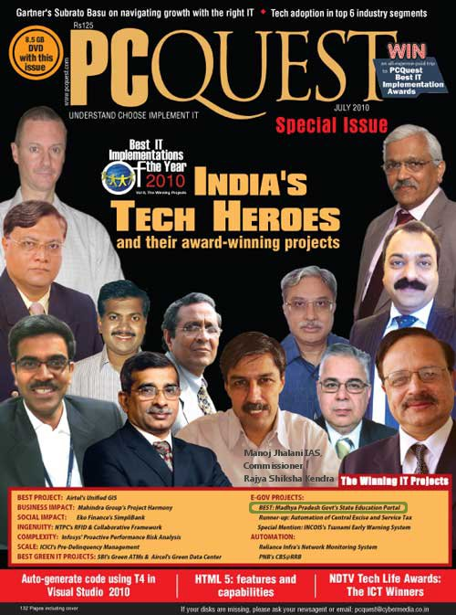 PCQuest Cover Showing Manoj Jhalani